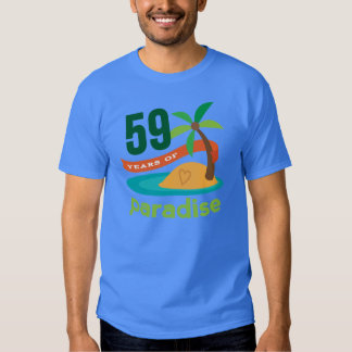 59th Wedding Anniversary Funny Gift For Her T-shirts