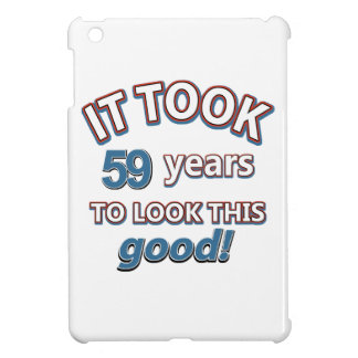 59th year birthday designs iPad mini case
