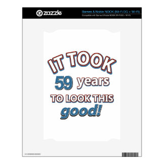 59th year birthday designs skin for NOOK