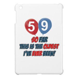 59th year old birthday designs iPad mini cover