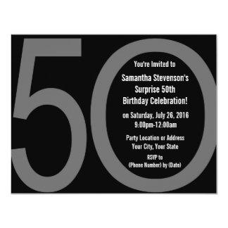 5-0 invitaciones grandes de la fiesta de invitación personalizada