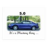 5,0 Mustango Tarjetas Postales