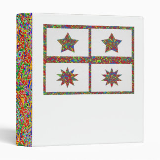 5 & 10 Point Sparkle Lucky Stars Binder