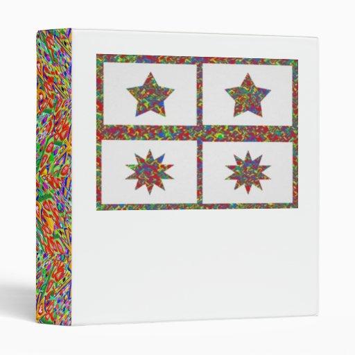 5 & 10 Point Sparkle Lucky Stars Binder