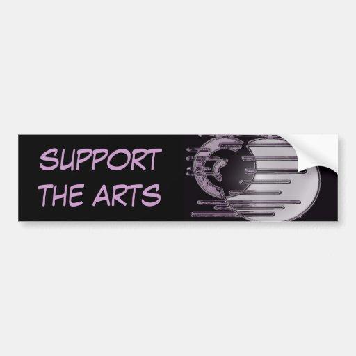 5.11b, support the arts bumper sticker