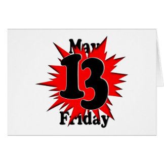 5-13 Friday The 13th in May Card