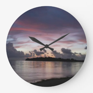 5:15 Dawn, Round (Large) Wall Clock