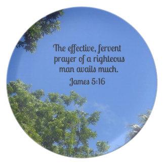 5:16 de James el rezo eficaz, ferviente… Platos