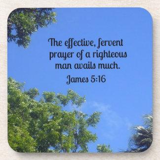 5:16 de James el rezo eficaz, ferviente… Posavasos De Bebida