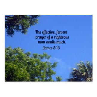5:16 de James el rezo eficaz, ferviente… Tarjetas Postales