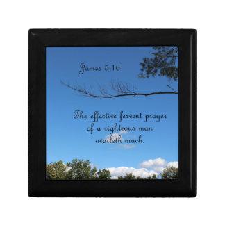 5:16 de James el rezo ferviente eficaz de Joyero Cuadrado Pequeño