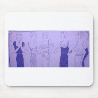5 1920s Deco Flappers in Cocktail Dresses Mouse Pad