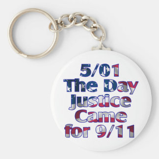5/1 Day Justice Came for 9/11 Keychain