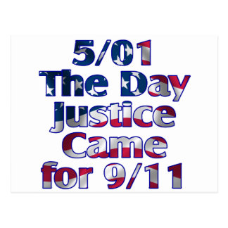 5/1 Day Justice Came for 9/11 Postcard