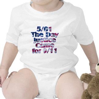 5 1 justicia del día vino para 9 11 trajes de bebé