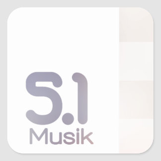 5.1 Musik Channel Square Sticker