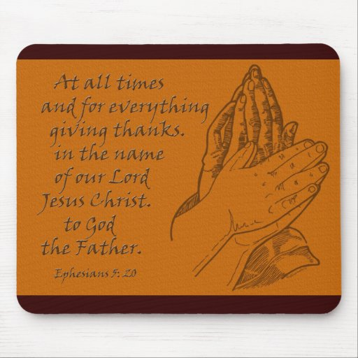 5:20 de Ephesians… que da siempre gracias Tapete De Ratones