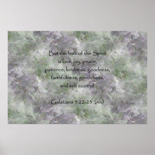 5:22 de Galatians - fruta de 23 ~ del alcohol Posters