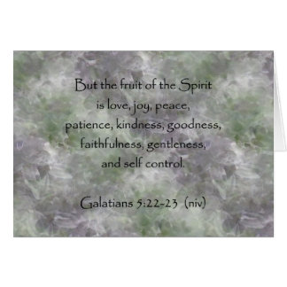 5:22 de Galatians - fruta de 23 ~ del alcohol Tarjeta De Felicitación
