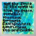 5:22 de Galatians - la fruta del alcohol Póster