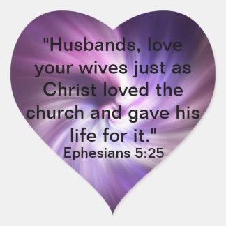 5 25 de Ephesians Pegatina Corazón