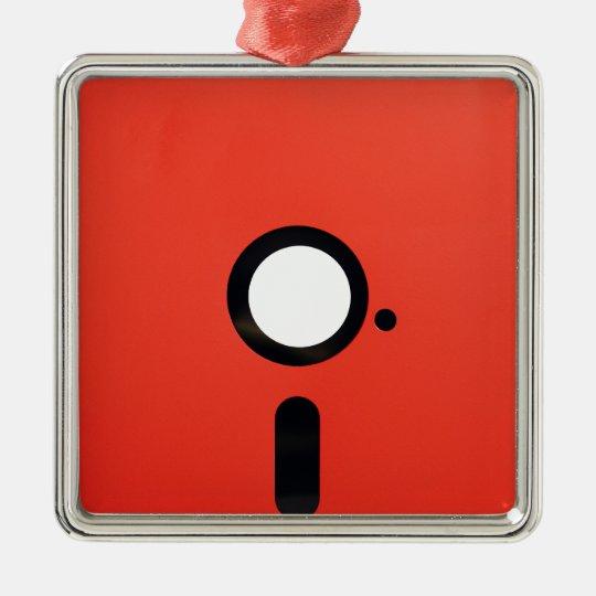 5.25 Floppy Disc Metal Ornament