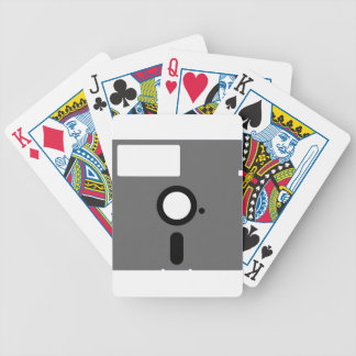 5.25 inch floppy disk - old computer diskette bicycle playing cards