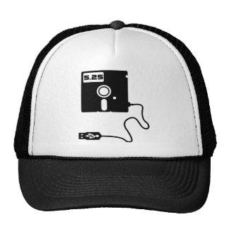 5.25-inch floppy disk USB Geek Nerd Trucker Hat