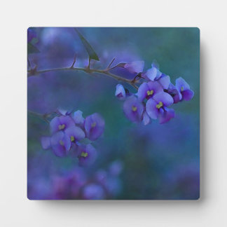 5.25 x 5.25 Purple Flowers Decorative Plaque