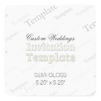 "5.25"" x 5.25"" Semi Gloss Custom Wedding Invitation"