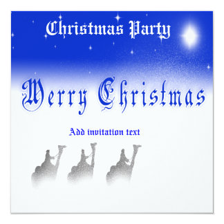 5.25 X 5.25 Three Wise Men Merry Christmas  Party  Card