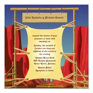 "5.25"" x 5.25"" Wild West Wedding Invitation"