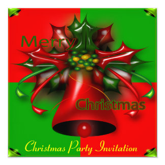 5.25x5.25 Christmas Party Invitation