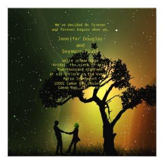 5.25x5.25 Midnight Moonlight Couple Dance Invition Custom Invitation