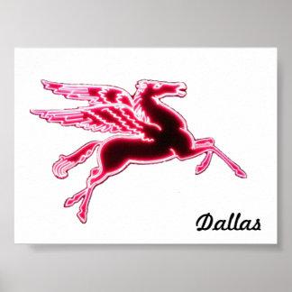 """5.33"""" x 4"""" Dallas Pegasus on white Print"""