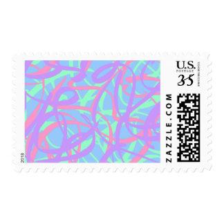 5-4-3 Scribble Ribbons Postage (Blue bg)