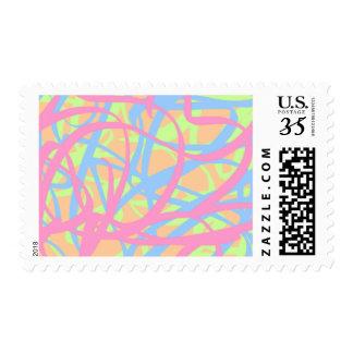 5-4-3 Scribble Ribbons Postage (Orange bg)