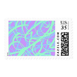 5-4-3 Scribble Ribbons Postage (Purple bg)
