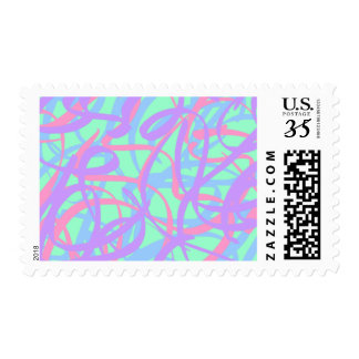 5-4-3 Scribble Ribbons Postage (Sea Green bg)