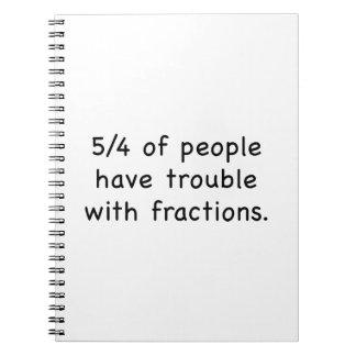 5/4 de gente tenga problema con las fracciones libros de apuntes