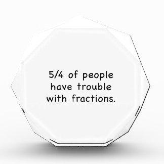 5/4 de gente tenga problema con las fracciones