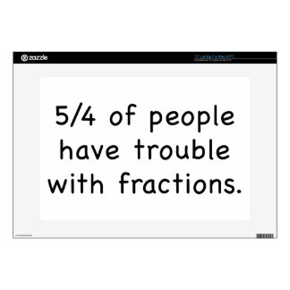 5/4 Of People Have Trouble With Fractions Laptop Skins