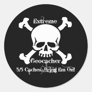 5/5 Caches...Bring Em On! Classic Round Sticker