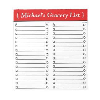 """5,5"""" personalizado x 6"""" libreta roja de la lista d blocs de notas"""