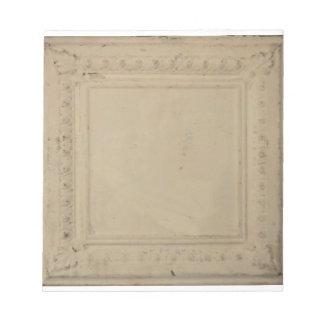 5,5' x 6' libreta con la teja antigua del techo de blocs