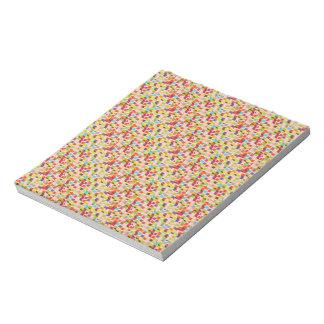 "5.5"" x 6"" Notepad (40 pgs.) - Multicolor Geometric"