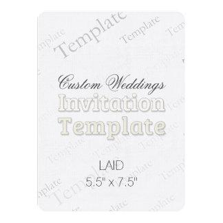 "5.5"" x 7.5"" Laid Custom Wedding Invitation Round"