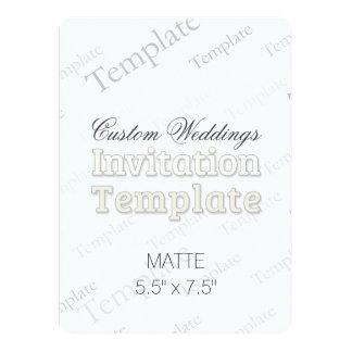 "5.5"" x 7.5"" Matte Custom Wedding Invitation Round"