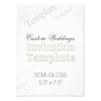 "5.5"" x 7.5"" Semi Gloss Custom Wedding Invitation 5.5"" X 7.5"" Invitation Card"