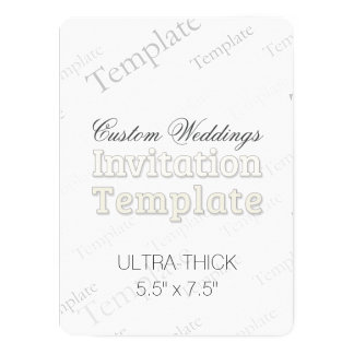 "5.5"" x 7.5"" Ultra Thick Custom Wedding Invitation"